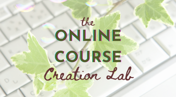 The Online Course Creation Lab